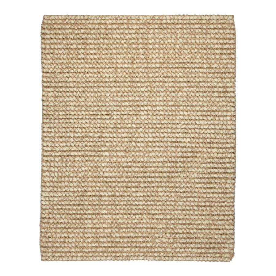 Anji Mountain Jute Rectangular Solid Wool Area Rug (Common: 5-ft x 8-ft; Actual: 5-ft x 8-ft)