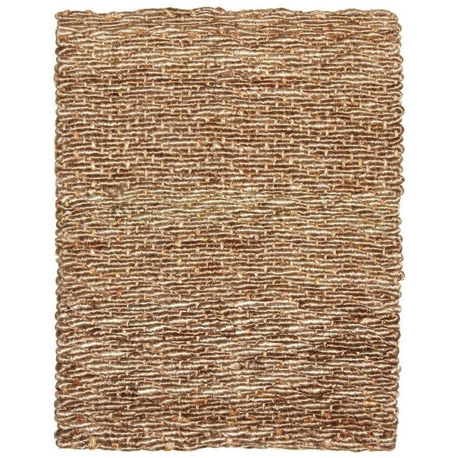 Anji Mountain Wool/Jute 36-in x 60-in Rectangular Beige  Rug