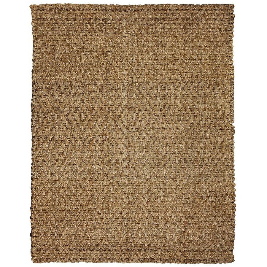 Anji Mountain Jute Rectangular Indoor Woven Area Rug (Common: 5 x 8; Actual: W x L x Dia)