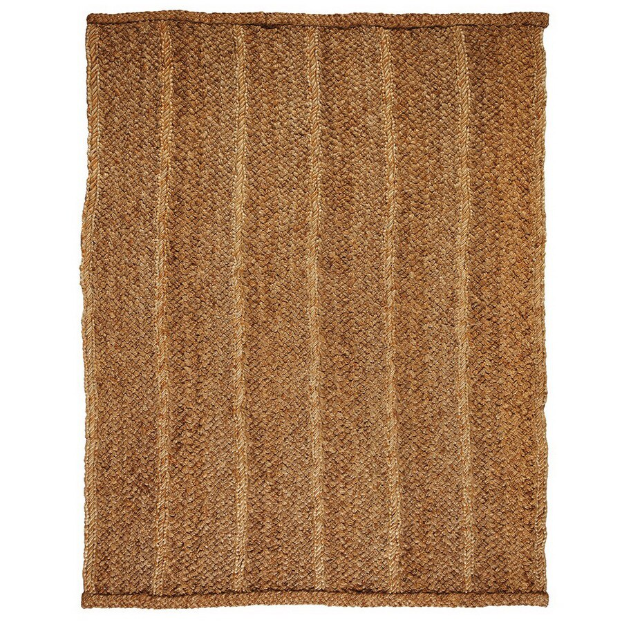 Anji Mountain Jute Rectangular Multicolor Transitional Jute Area Rug (Common: 4-ft x 6-ft; Actual: 4-ft x 6-ft)