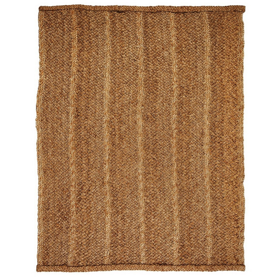 Anji Mountain Jute 9-ft x 12-ft Rectangular Multicolor Transitional Jute Area Rug