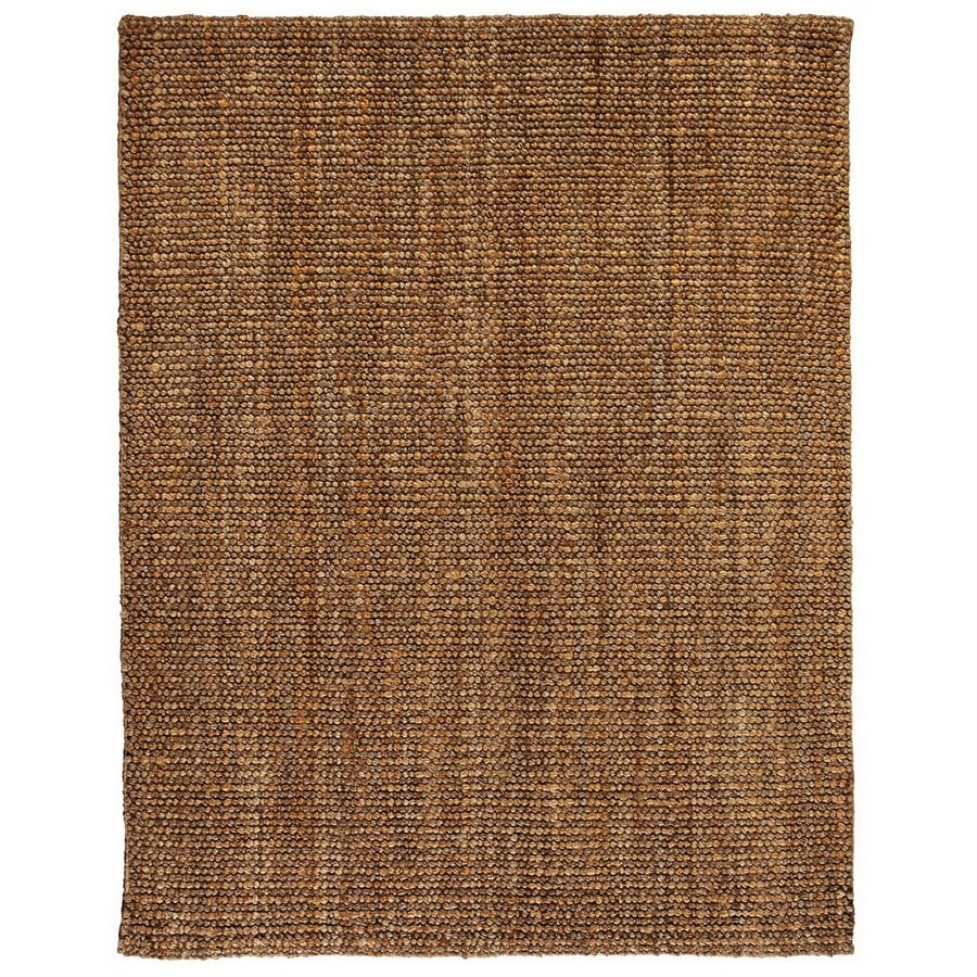 Anji Mountain Jute Rectangular Multicolor Solid Jute Area Rug (Common: 5-ft x 8-ft; Actual: 5-ft x 8-ft)