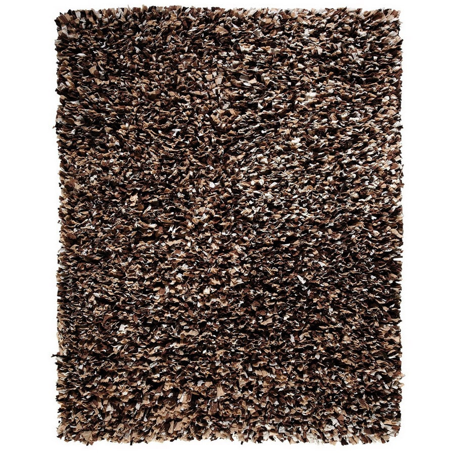 Anji Mountain Paper Shag 4-ft x 6-ft Rectangular Solid Area Rug