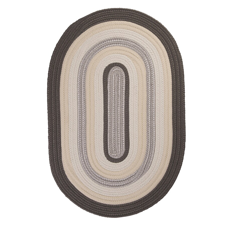 Colonial Mills Brooklyn Slate Oval Indoor/Outdoor Braided Area Rug (Common: 5 x 8; Actual: 60-in W x 96-in L)