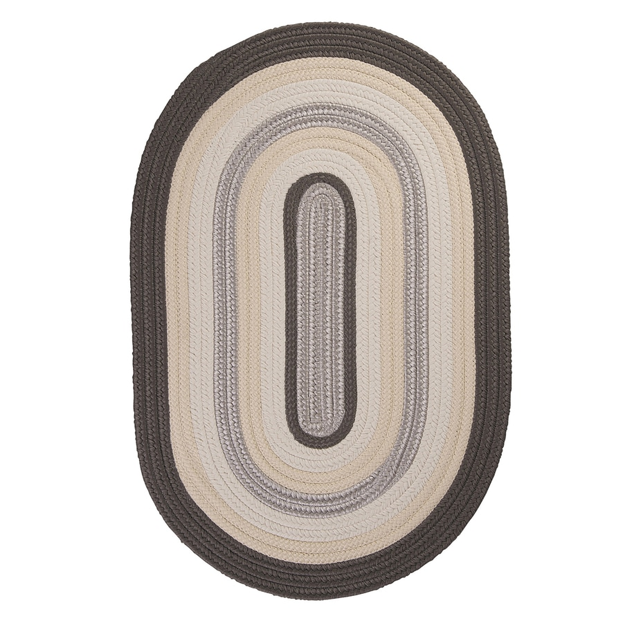 Colonial Mills Brooklyn Slate Oval Indoor/Outdoor Braided Area Rug (Common: 7 x 9; Actual: 84-in W x 108-in L)
