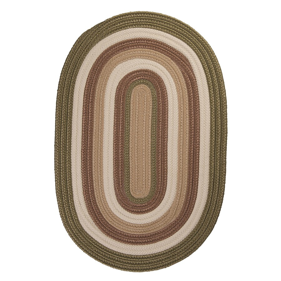 Colonial Mills Brooklyn Moss Oval Indoor/Outdoor Braided Area Rug (Common: 8 x 11; Actual: 96-in W x 132-in L)