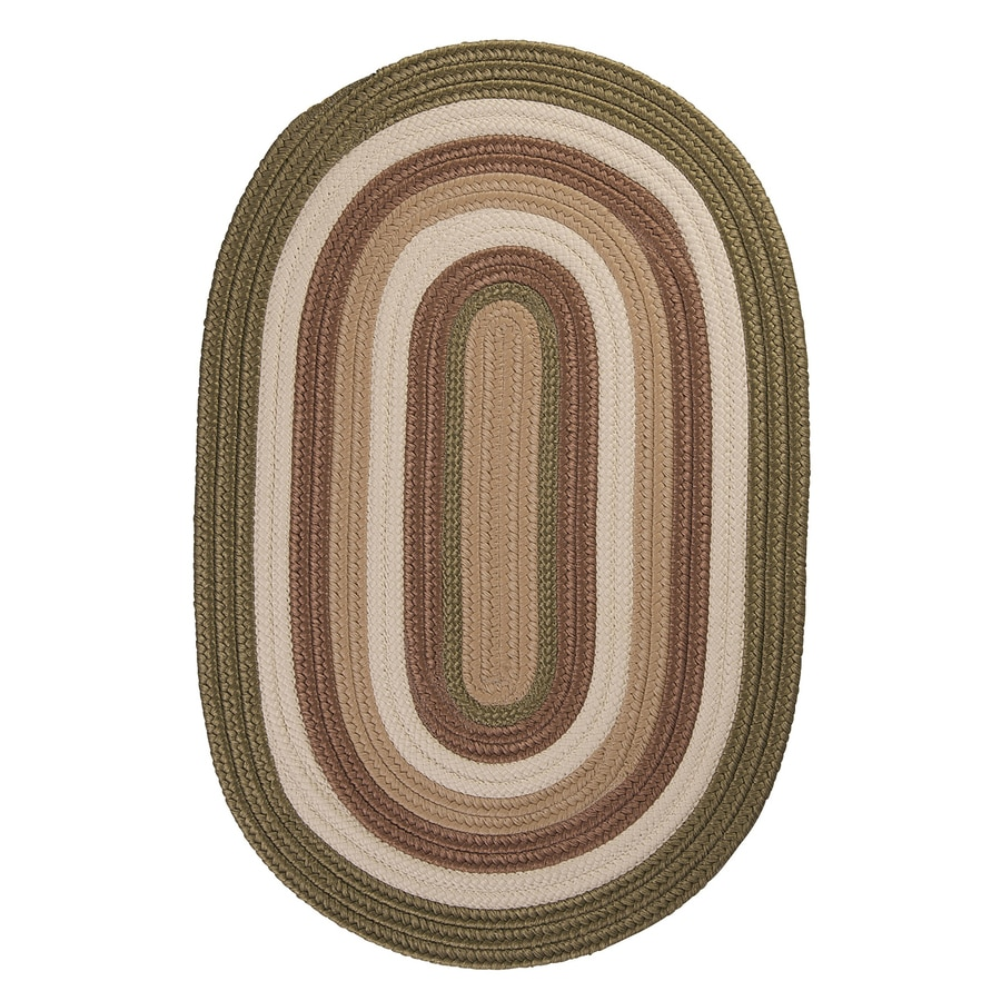 Colonial Mills Brooklyn Moss Oval Indoor/Outdoor Braided Area Rug (Common: 10 x 13; Actual: 120-in W x 156-in L)