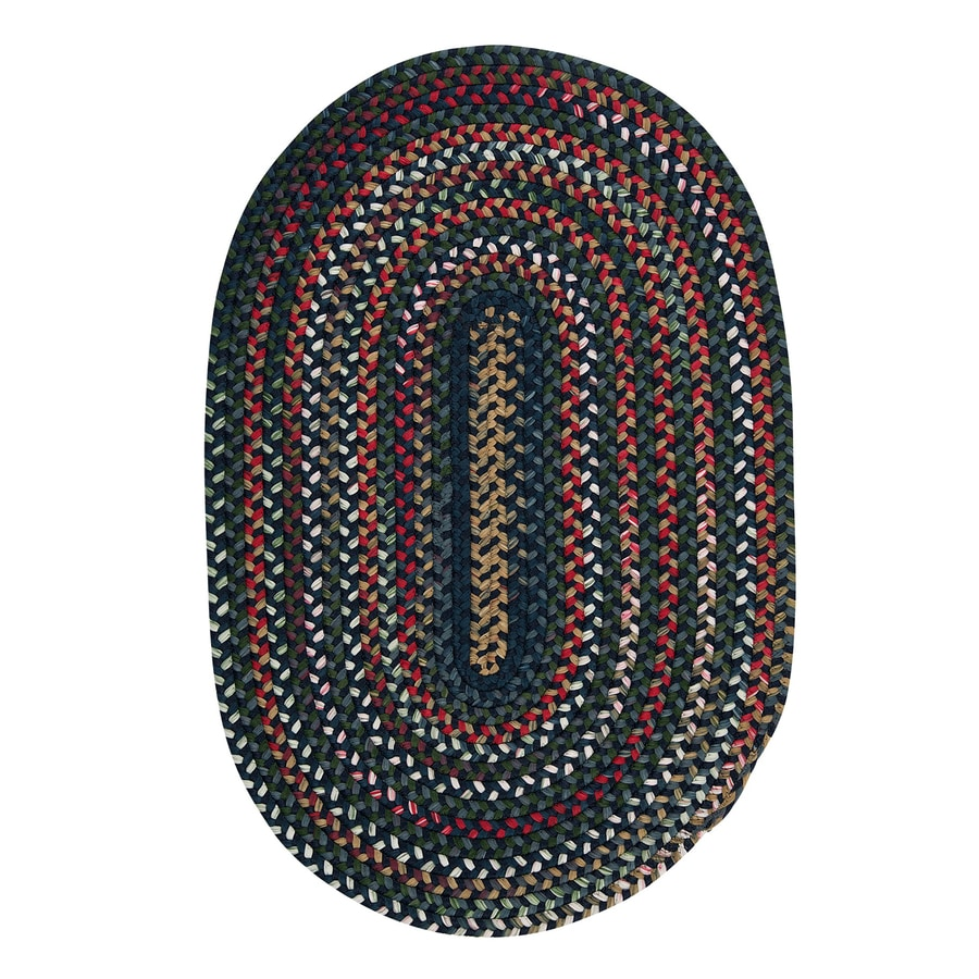 Colonial Mills Chestnut Knoll Baltic Blue Oval Indoor Braided Throw Rug (Common: 2 x 3; Actual: 24-in W x 36-in L)