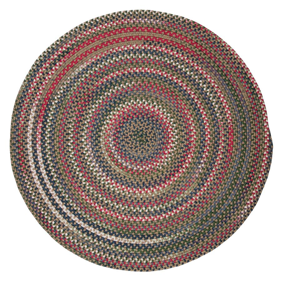 Colonial Mills Chestnut Knoll Straw Beige Round Indoor Braided Area Rug (Common: 4 x 4; Actual: 4-ft Dia)
