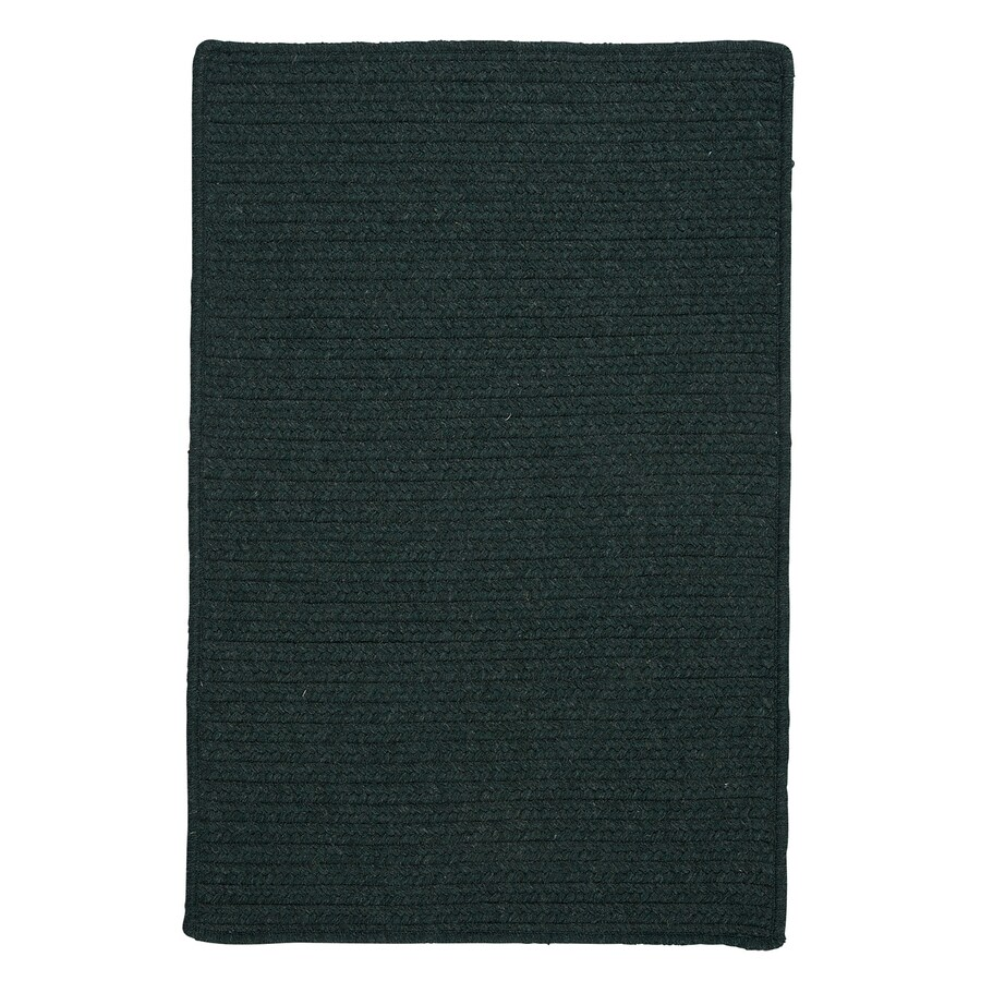 Colonial Mills Courtyard Cypress Green Rectangular Indoor Braided Area Rug (Common: 4 x 6; Actual: 48-in W x 72-in L)