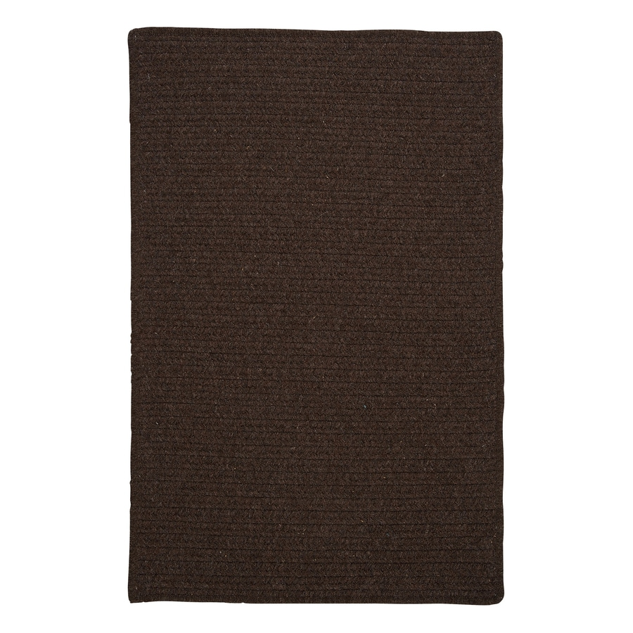 Colonial Mills Courtyard Cocoa Square Indoor Braided Area Rug (Common: 6 x 6; Actual: 72-in W x 72-in L)