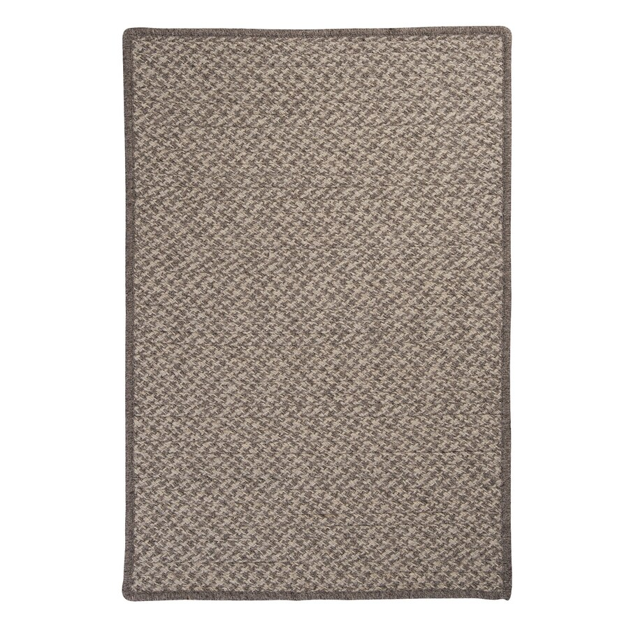 Colonial Mills Natural Wool Houndstooth Latte Rectangular Indoor Braided Runner (Common: 2 x 10; Actual: 24-in W x 120-in L)