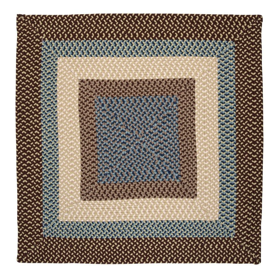 Colonial Mills Montego Bright Brown Square Indoor/Outdoor Braided Area Rug (Common: 4 x 4; Actual: 48-in W x 48-in L)
