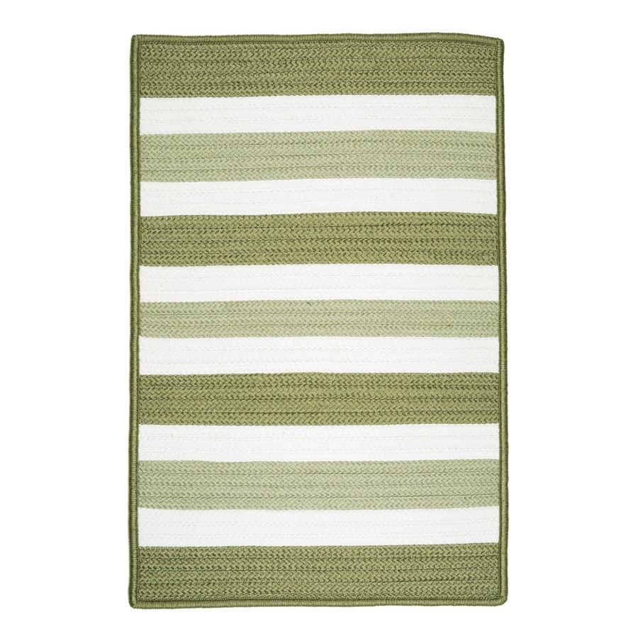 Colonial Mills Portico Edamame Rectangular Indoor/Outdoor Braided Area Rug (Common: 8 x 11; Actual: 96-in W x 132-in L)