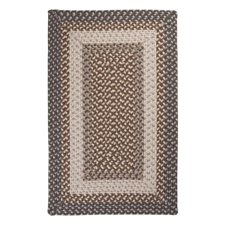 Colonial Mills Tiburon Misted Gray Rectangular Indoor/Outdoor Braided Area Rug (Common: 4 x 6; Actual: 48-in W x 72-in L)