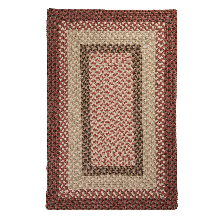 Colonial Mills Tiburon Rusted Rose Square Indoor/Outdoor Braided Area Rug (Common: 4 x 4; Actual: 48-in W x 48-in L)