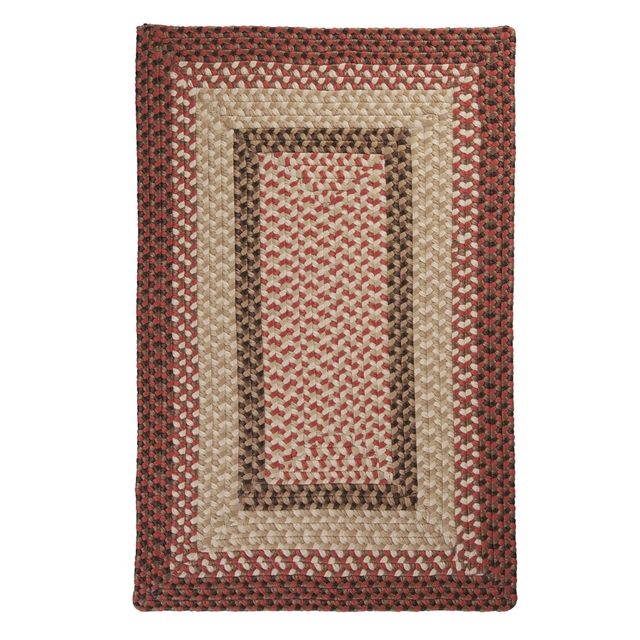 Colonial Mills Tiburon Rusted Rose Square Indoor/Outdoor Braided Area Rug (Common: 6 x 6; Actual: 72-in W x 72-in L)