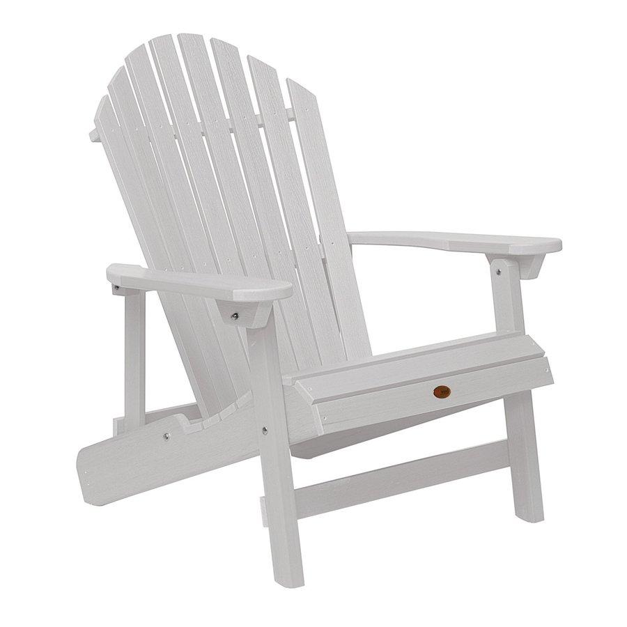 shop highwood usa westport white plastic folding patio adirondack chair at. Black Bedroom Furniture Sets. Home Design Ideas