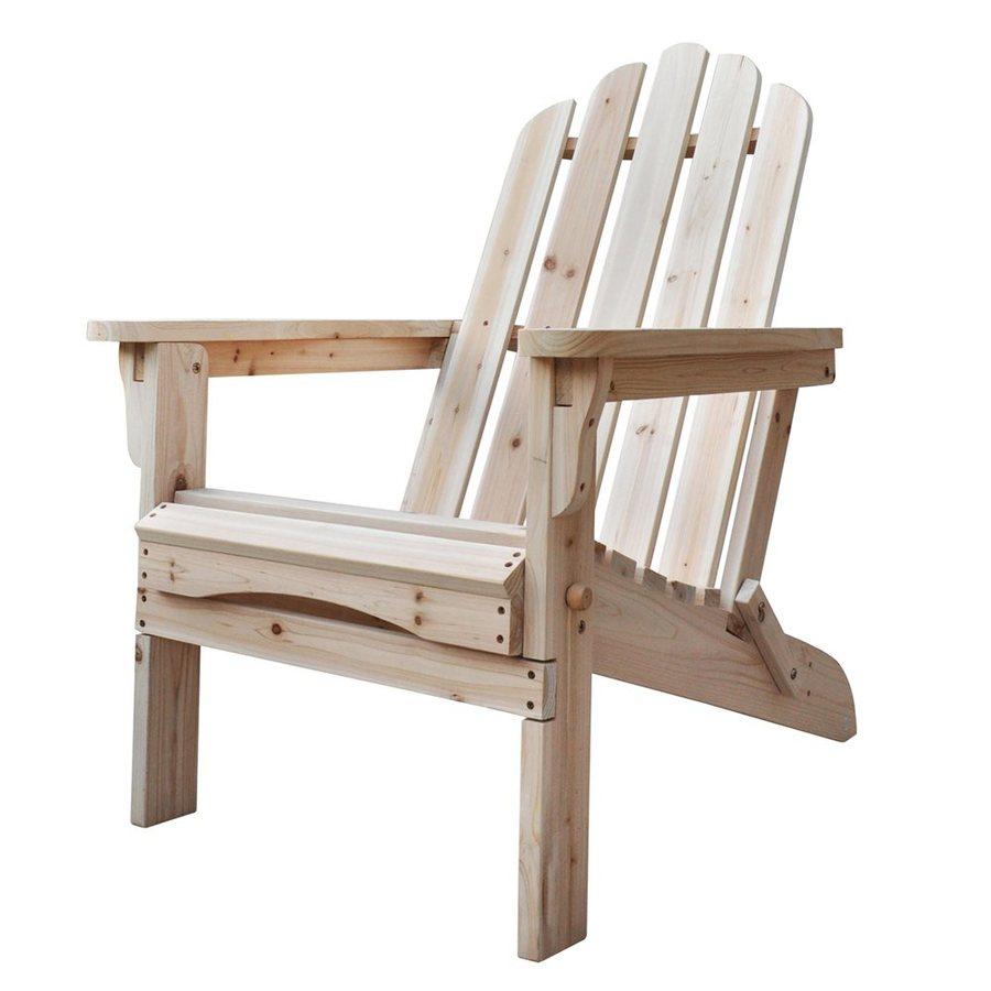 Shine Company Marina Natural Cedar Folding Adirondack Chair