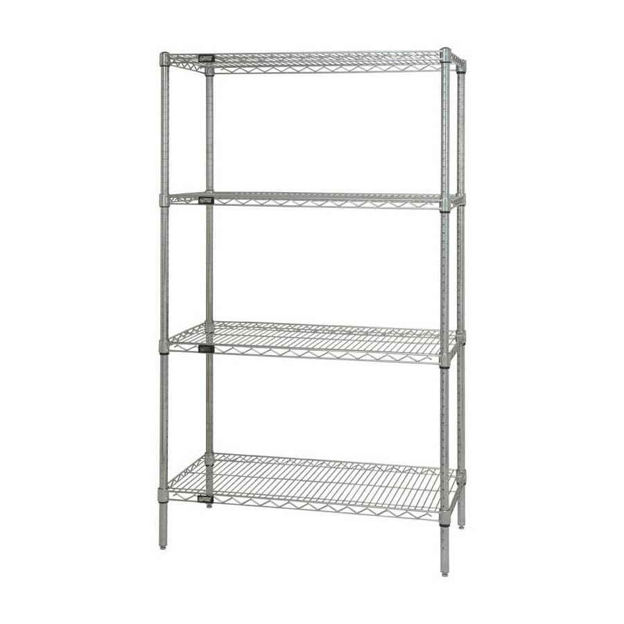 Quantum Storage Systems 74-in H x 36-in W x 18-in D 4-Tier Freestanding Shelving Unit
