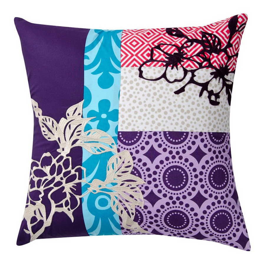 KOKO Company 18-in W x 18-in L Multicolored Square Decorative Pillow