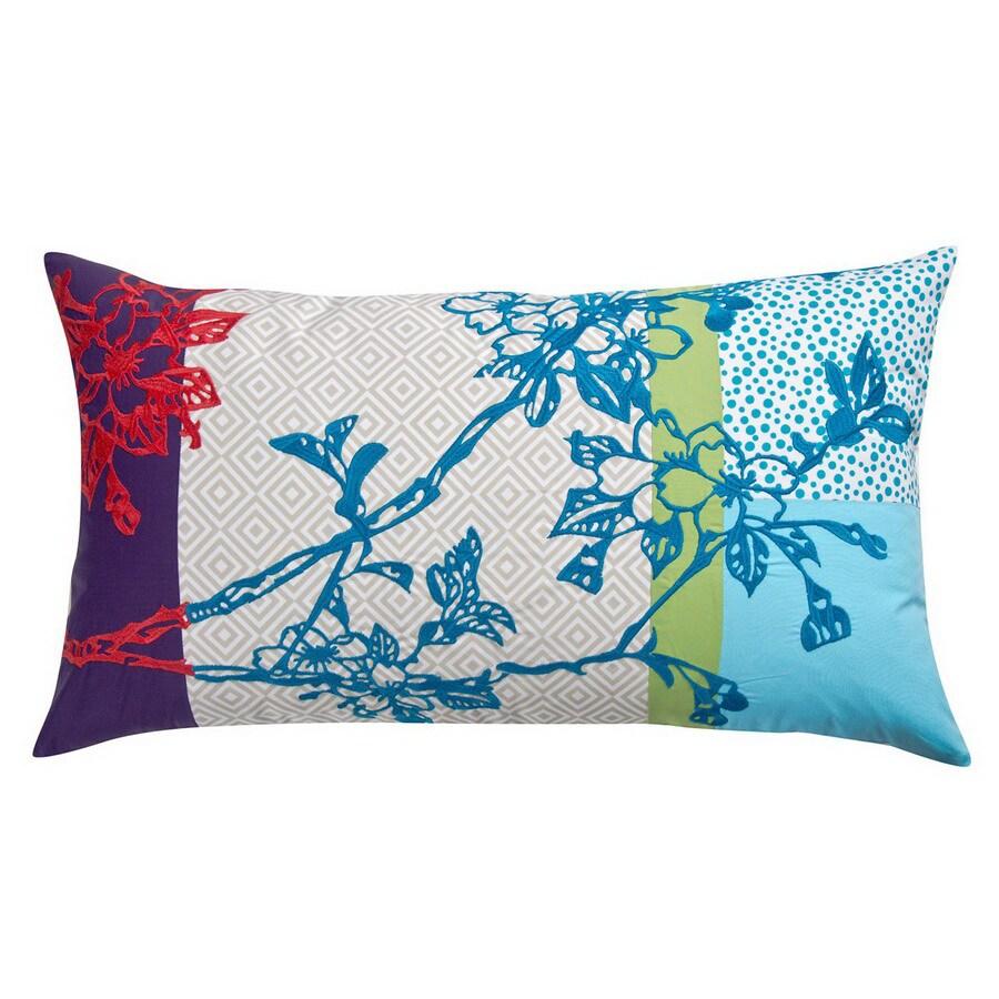 KOKO Company 27-in W x 15-in L Multicolored Rectangular Decorative Pillow