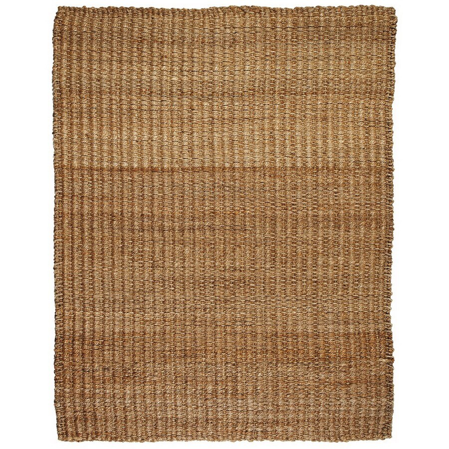 Anji Mountain River Sand Rectangular Indoor Woven Oriental Area Rug (Common: 9 x 12; Actual: 108-in W x 144-in L)