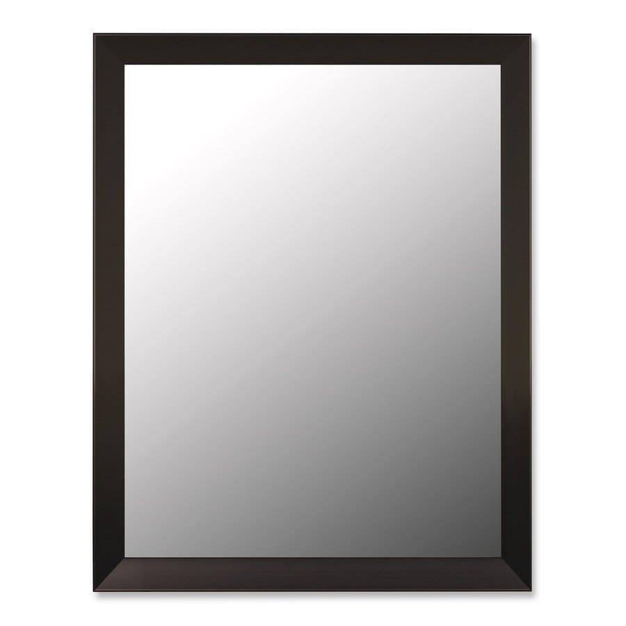 Hitchcock-Butterfield Angle 26-in x 36-in Iron Black Beveled Rectangle Framed Wall Mirror