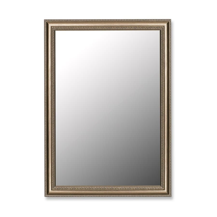 Hitchcock-Butterfield Grecian 16-in x 34-in Beaded Silver Rectangle Framed Wall Mirror