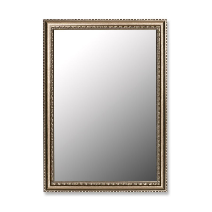 Hitchcock-Butterfield Grecian 34-in x 44-in Beaded Silver Rectangle Framed Wall Mirror