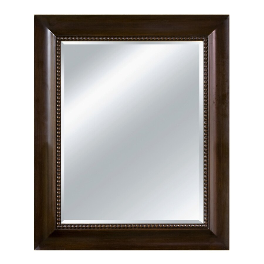Shop imagination 30 in x 36 in chocolate rectangle framed for Mirror 30 x 36