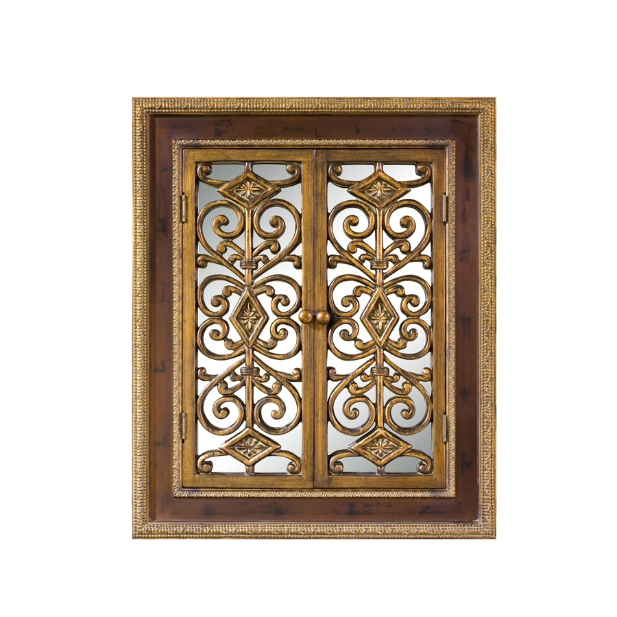Shop imagination 30 in x 36 in natural gold rectangle for Mirror 30 x 36