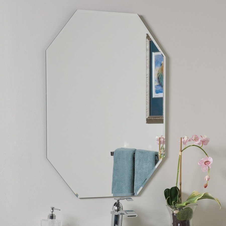 Shop decor wonderland 23 6 in w x 31 5 in h octagonal for Mirror on mirror decorating for bathroom