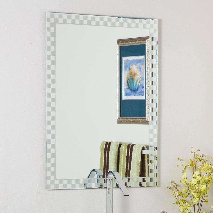 Decor Wonderland 23.6-in W x 31.5-in H Rectangular Frameless Bathroom Mirror with Hardware and Beveled Edges