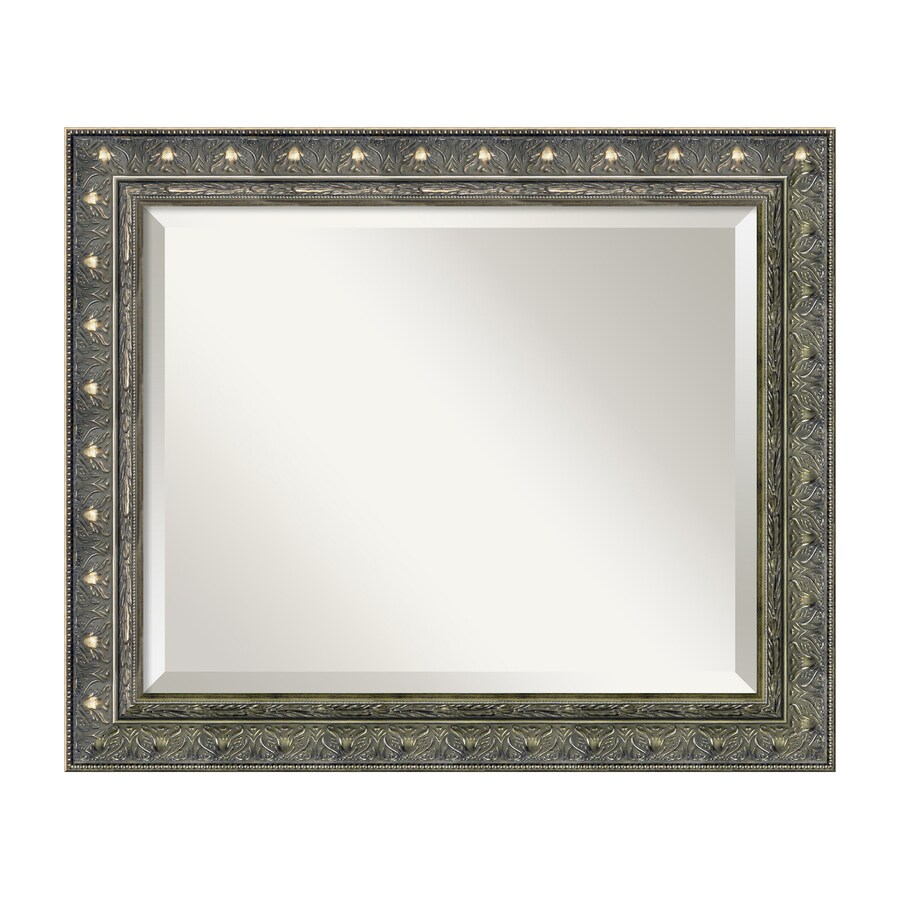 Amanti Art Barcelona 24.34-in x 20.34-in Champagne Beveled Rectangular Framed Traditional Wall Mirror