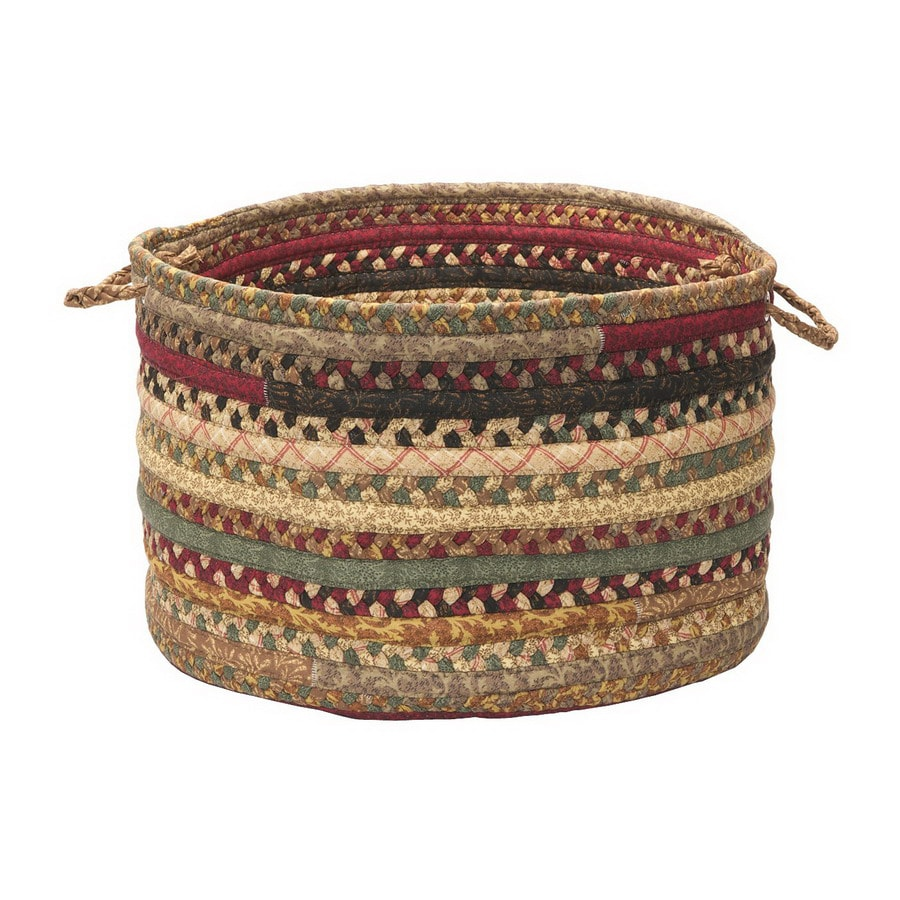 Colonial Mills 18-in W x 12-in H x 18-in D Cranberry Blend Fabric Basket