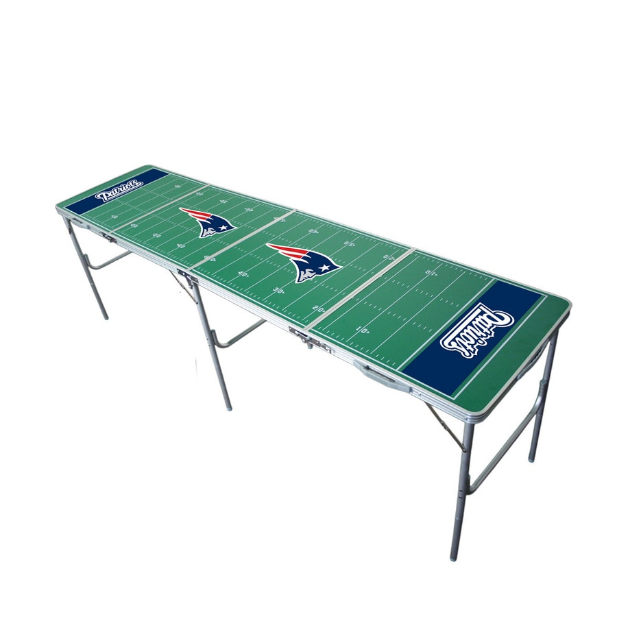 Wild Sports 96-in x 24-in Rectangle Cast Aluminum New England Patriots Folding Table