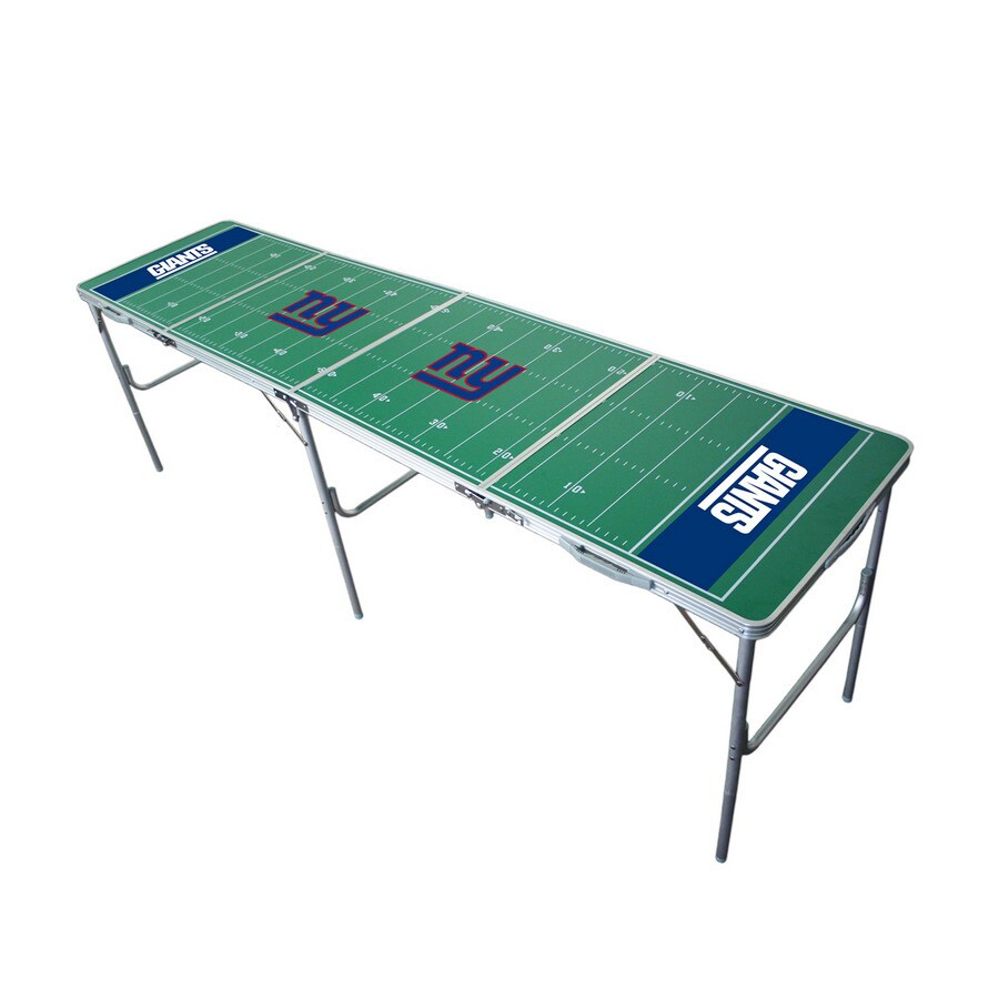 Wild Sports 96-in x 24-in Rectangle Cast Aluminum New York Giants Folding Table