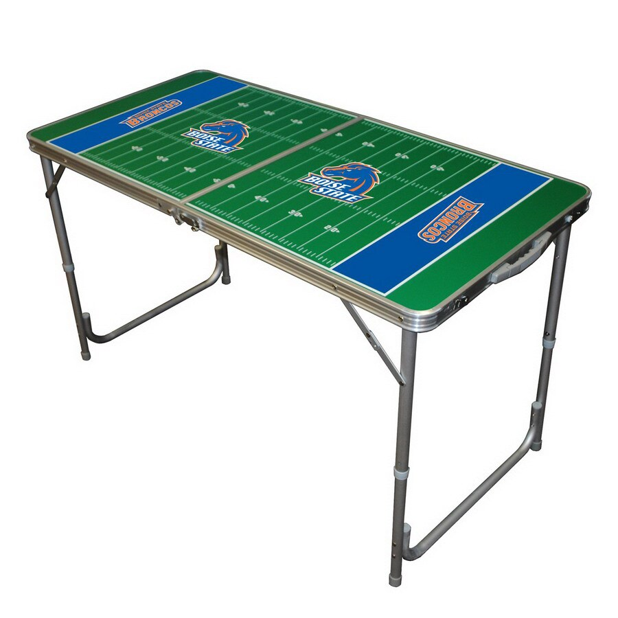 Wild Sports 48-in x 24-in Rectangle Cast Aluminum Boise State Broncos Folding Table