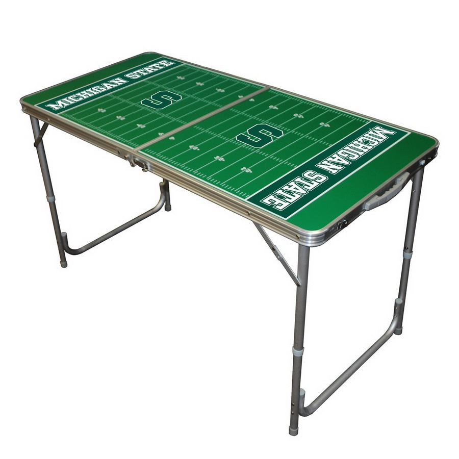 Wild Sports 48-in x 24-in Rectangle Cast Aluminum Michigan State Spartans Folding Table