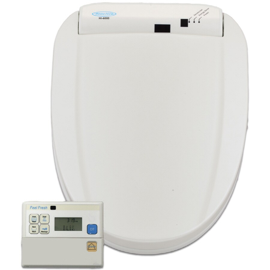 HomeTECH White Toilet-Mounted Bidet
