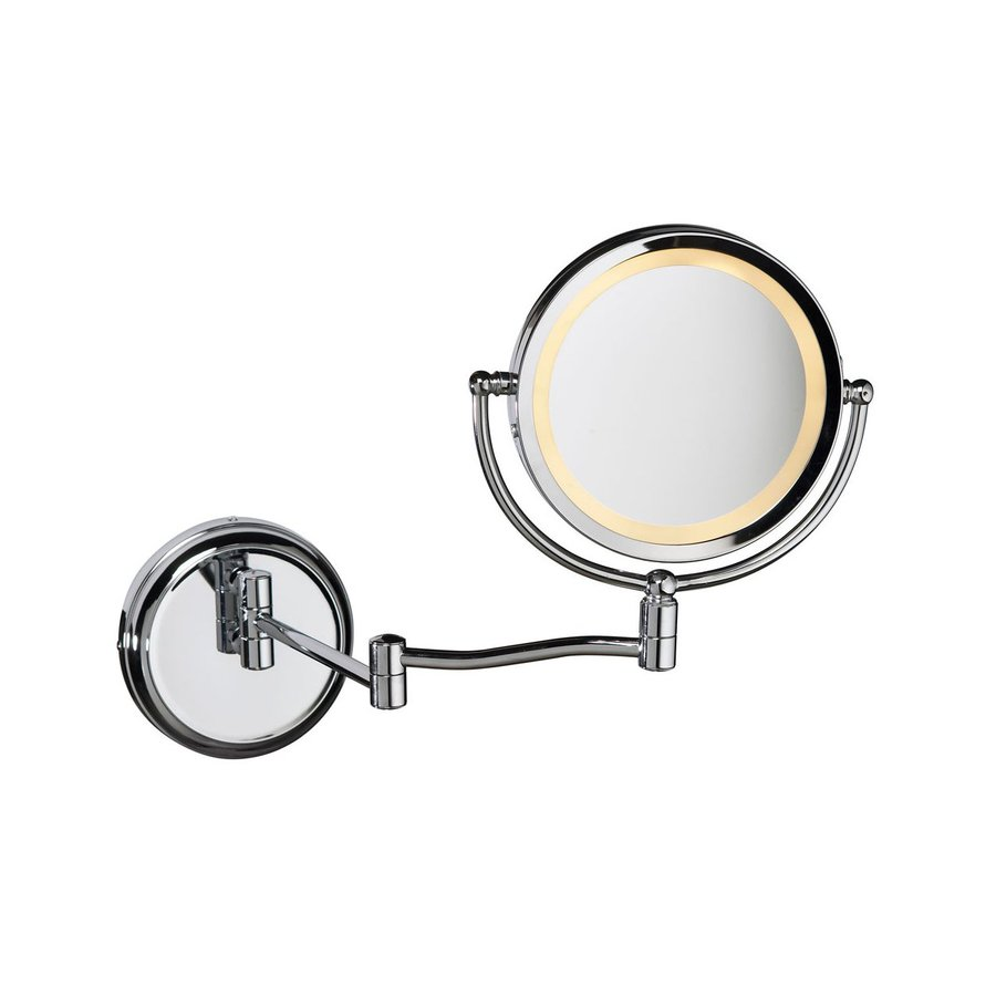 shop dainolite lighting chrome magnifying wall mounted vanity mirror light included at. Black Bedroom Furniture Sets. Home Design Ideas