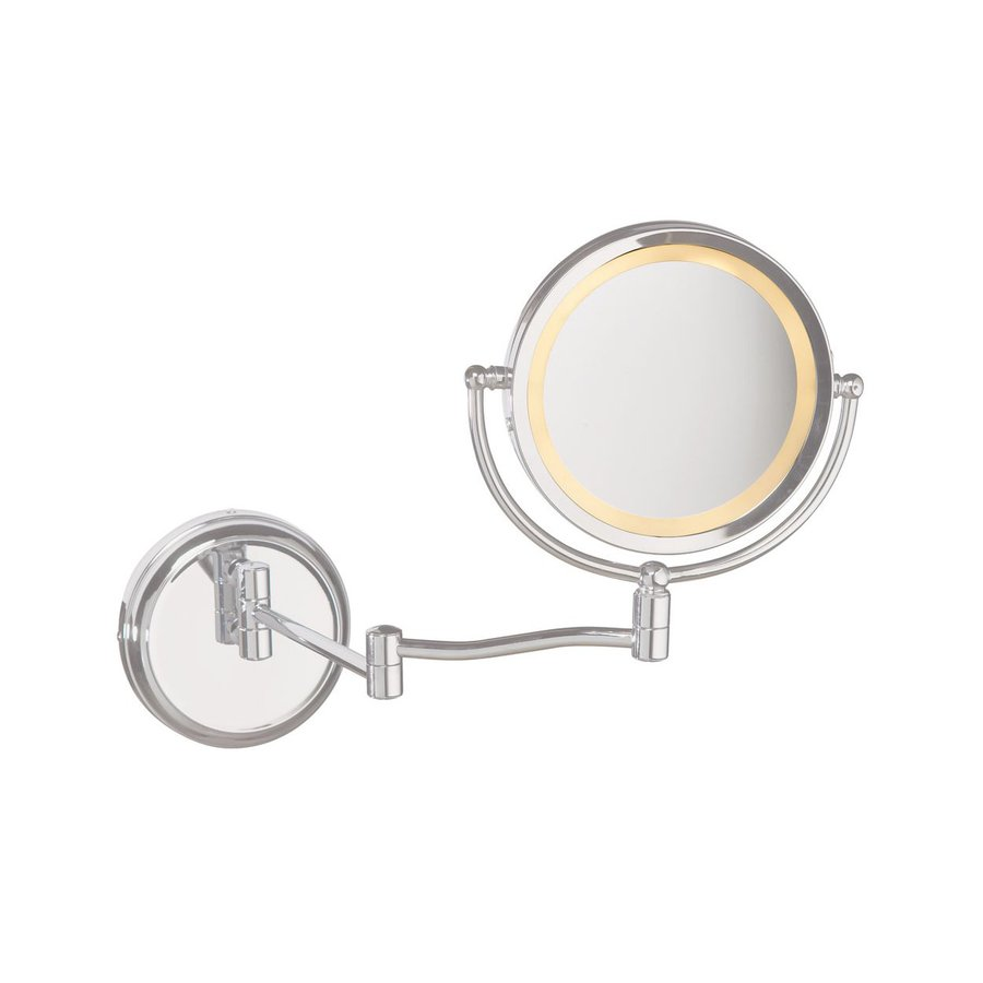 Vanity Light Wall Mirror : Shop Dainolite Lighting Chrome Magnifying Wall-Mounted Vanity Mirror - Light Included at Lowes.com