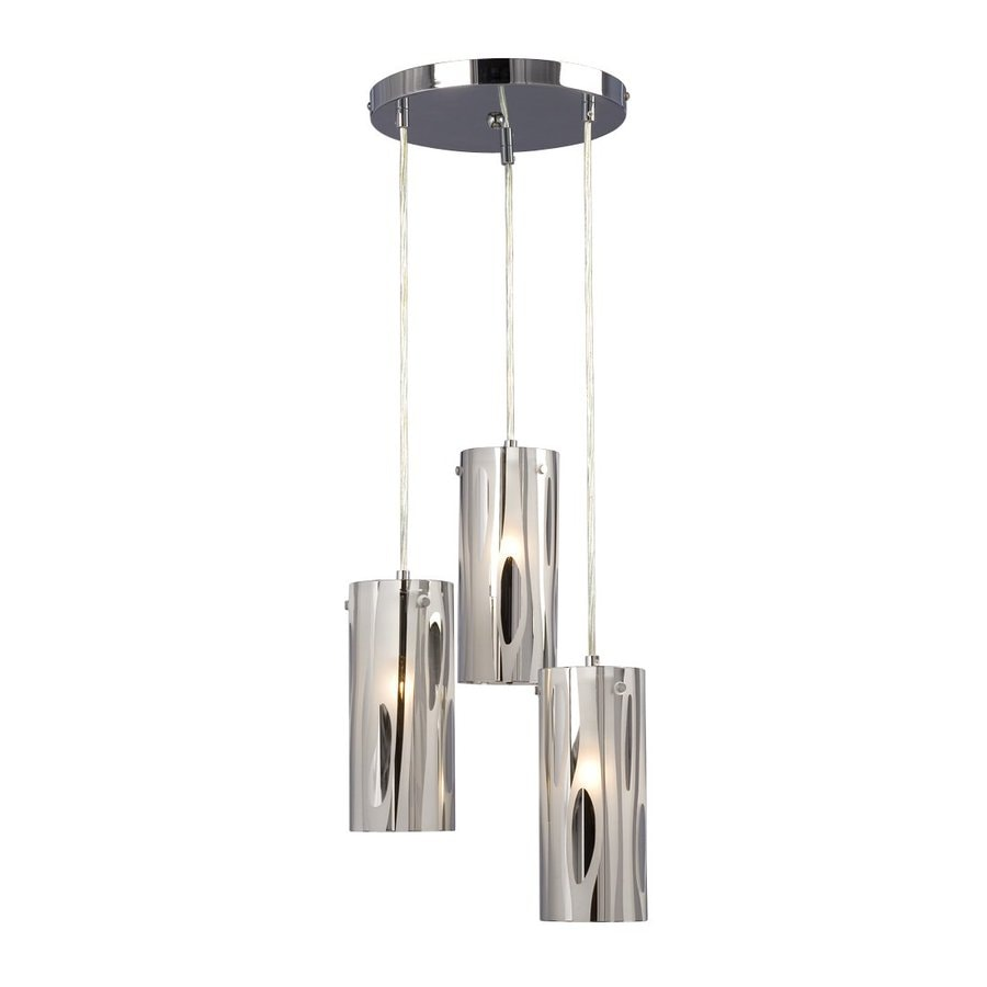 Shop galaxy lustre 12 in chrome industrial multi light cylinder pendant at lo - Lustre multi ampoules ...