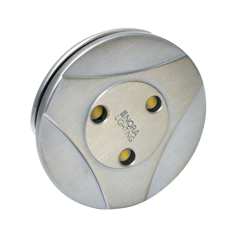 Nora Lighting 2.75-in Chrome Plug-in Under Cabinet Warm White LED Puck Light