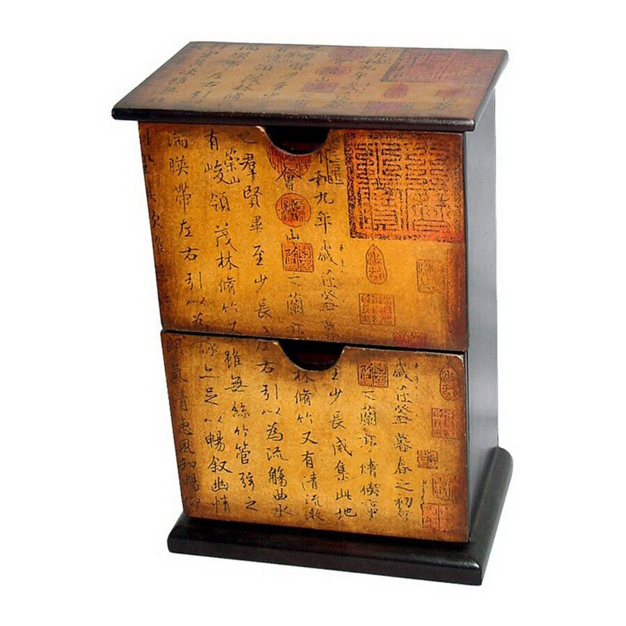 Oriental Furniture Chinese Art Design Floorstanding Jewelry Armoire