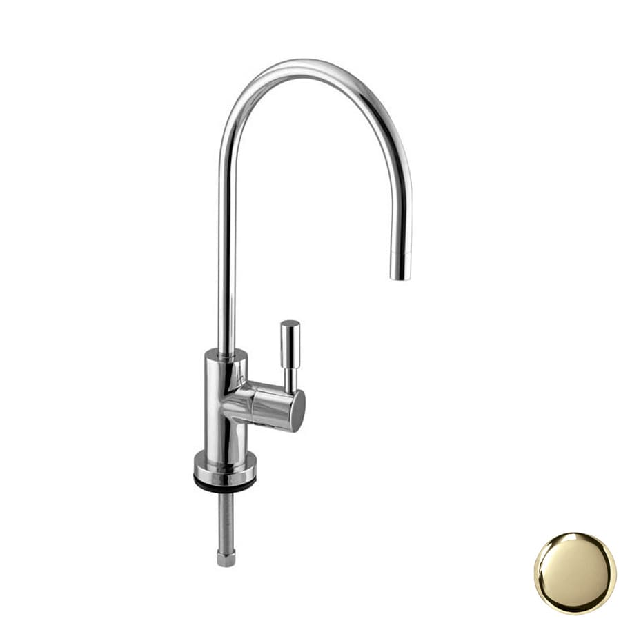 Westbrass Polished Brass Cold Water Dispenser with High Arc Spout
