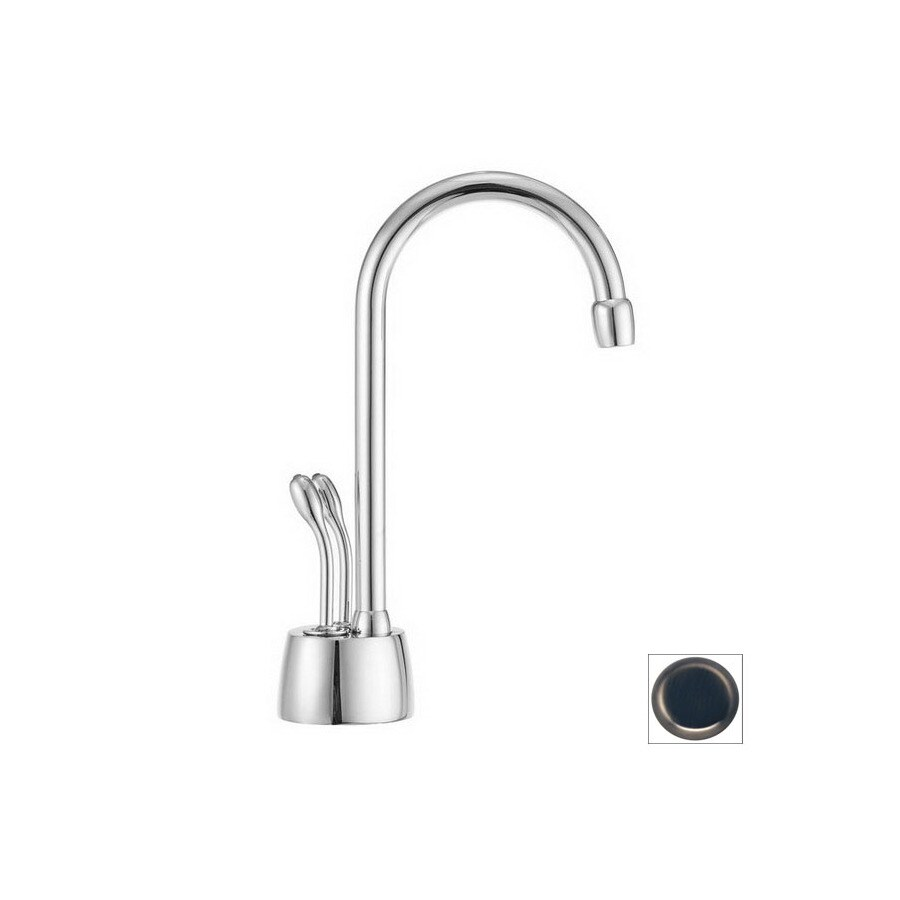 Shop Westbrass Instant Hot Develosah Pewter Antique Nickel 2 Handle High Arc Kitchen Faucet At