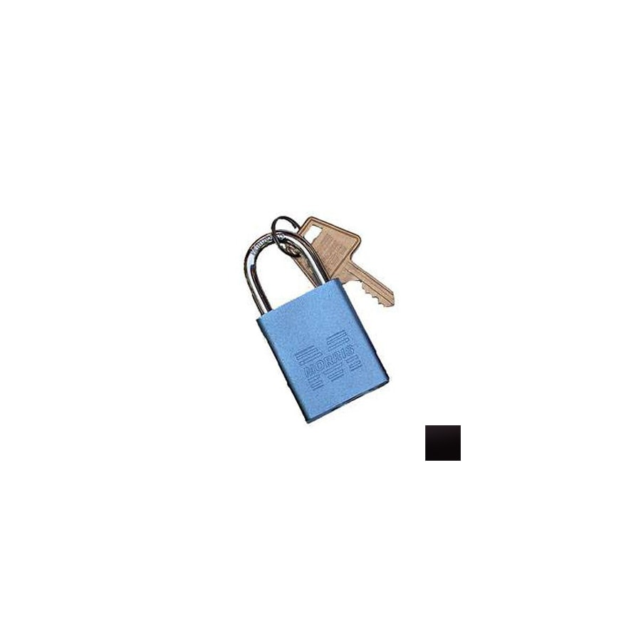 Morris Products 0.75-in Black Aluminum Shackle Keyed Padlock