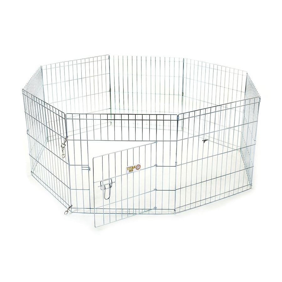 Majestic Pets 42-in Silver Wire Outdoor Exercise Pen
